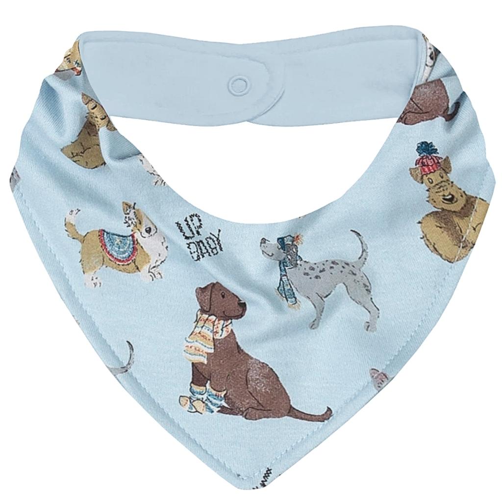 Babador Bandana para bebê em suedine Dogs